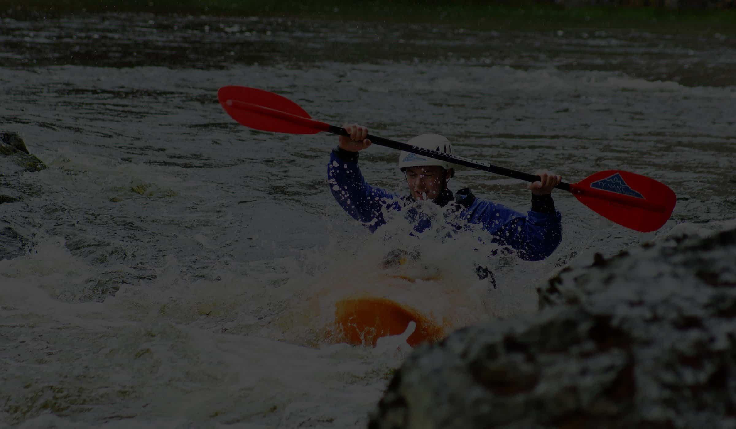 Man kayaking Llangollen