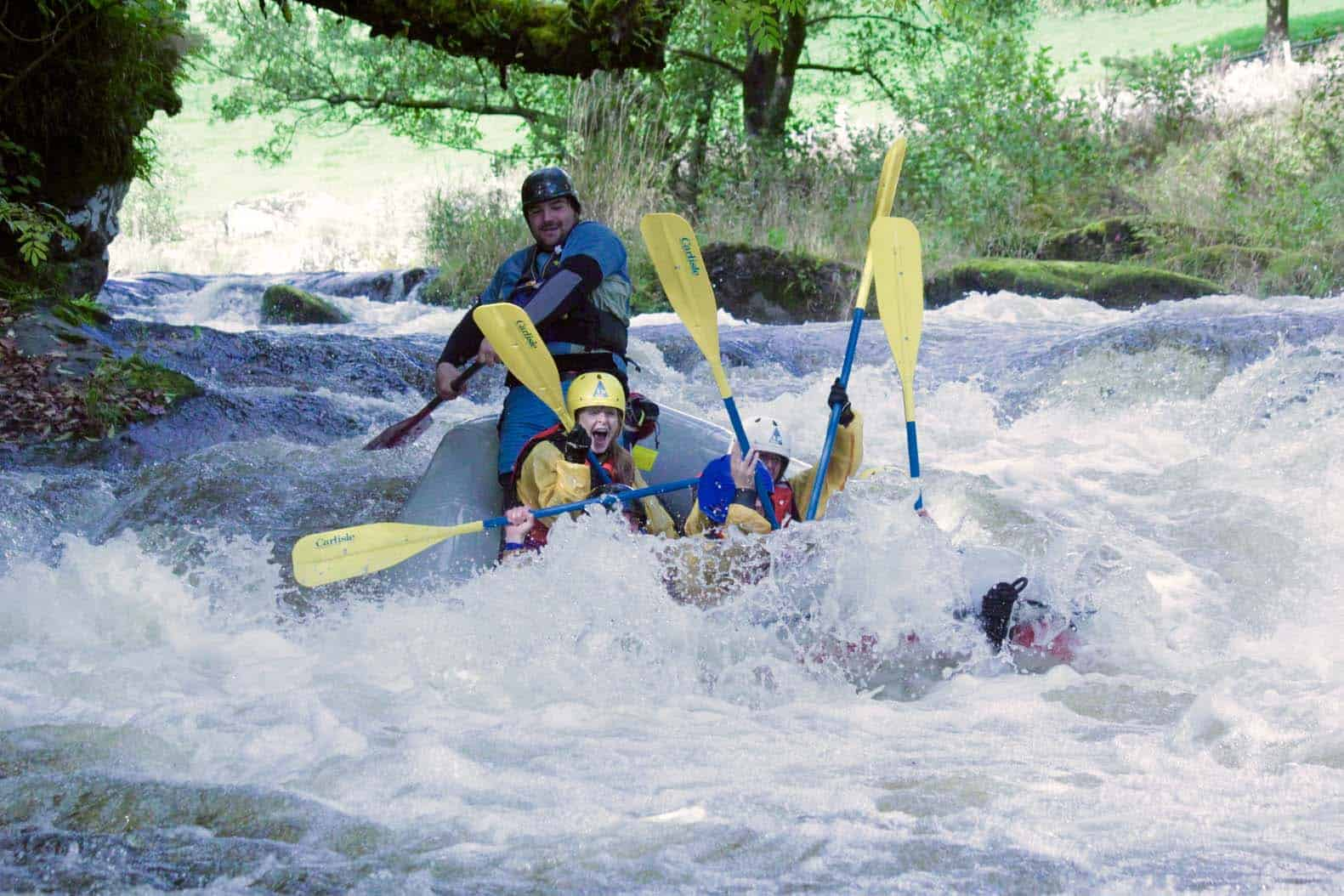 Rafting Bala Mill falls of the Tryweryn River-Ty Nant Outdoors