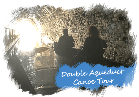 A canpoe tour with 2 Aqueducts and 2 Tunnell on Llangollen Canal.